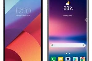 Смартфоны LG G6 и LG V30 позиционируются на 1 фото  - изображение