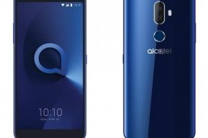 Смартфон Alcatel 3V оснастили крупным эраном и сдвоенной камерой - изображение