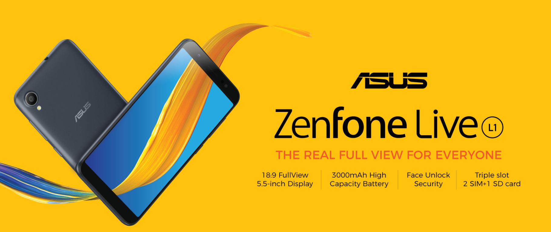 Новинка ASUS Zenfone Live L1 получила операционку Android Go и ценник в 110 долларов США - изображение