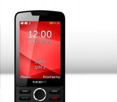 TeXet TM-308: простенький кнопочный телефон с большим дисплеем