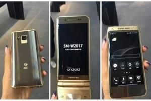 Устройство Samsung SM-W2017 в корпусе раскладушка - изображение