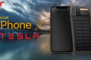 Caviar подготовила лимитированную серию iPhone X Tesla с встроенным солнечным... - изображение