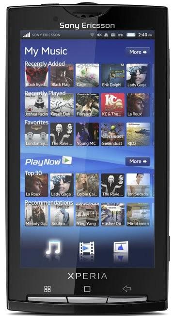 Фото Sony Ericsson Xperia X10