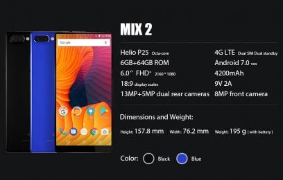 Vernee Mix 2 обзор смартфона с экраном 6 дюймов с соотношением сторон 18:9  - изображение